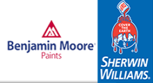 Benjamin Moore Paints/Sherwin Williams Paints
